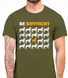Be Different Boston Terrier Dog  Mens T-Shirt - Olive