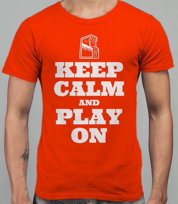 Keep Calm and Play On - T-Shirt - Orange