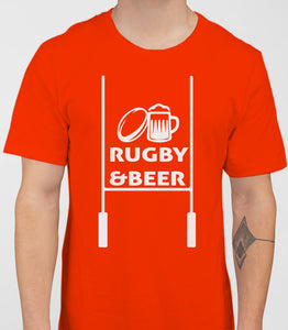 Rugby And Beer Mens T-Shirt - White
