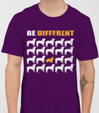 Be Different Cavalier Dog  Mens T-Shirt - Purple