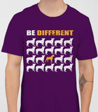 Be Different Boxer Dog  Mens T-Shirt - Purple