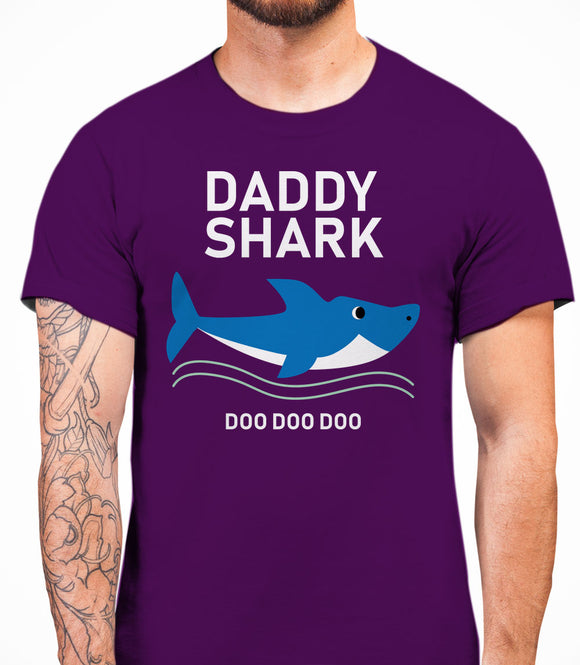 Daddy Shark - Men's T-Shirt - Purple