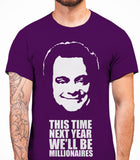 Delboy This Time Next Year We'll be MillionairesOnly Fools And Horses - Mens T-Shirt - Purple