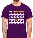 Be Different Yorkshire Terrier Dog  Mens T-Shirt - Purple