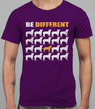 Be Different Border Collie Dog  Mens T-Shirt - Purple