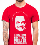 Delboy This Time Next Year We'll be MillionairesOnly Fools And Horses - Mens T-Shirt - Red