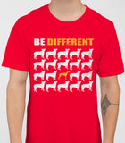 Be Different Greyhound Dog  Mens T-Shirt - Red