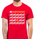 Be Different Pug Dog  Mens T-Shirt - Red