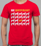 Be Different Border Collie Dog  Mens T-Shirt - Red
