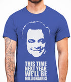 Delboy This Time Next Year We'll be MillionairesOnly Fools And Horses - Mens T-Shirt - Royal
