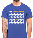 Be Different Shiba Inu Dog  Mens T-Shirt - Royal