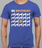 Be Different Akita Dog  Mens T-Shirt - Royal