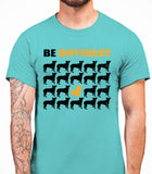 Be Different Yorkshire Terrier Dog  Mens T-Shirt - Sky Blue