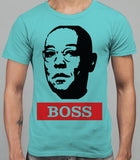 Guss Fringe The Boss - Breaking Bad Mens T-Shirt - Sky Blue