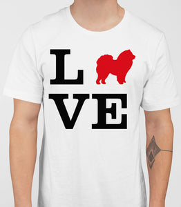 Love Chow Chow Dog Silhouette Mens T-Shirt - White