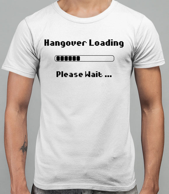 Hangover Loading Mens T-Shirt - White