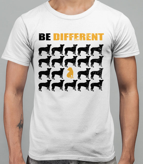 Be Different Shar Pei Dog  Mens T-Shirt - White