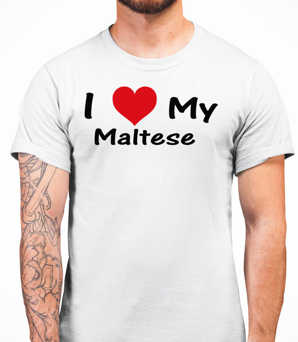I Love My Maltese Mens T-Shirt - White