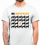 Be Different Chinese Crested Dog  Mens T-Shirt - White