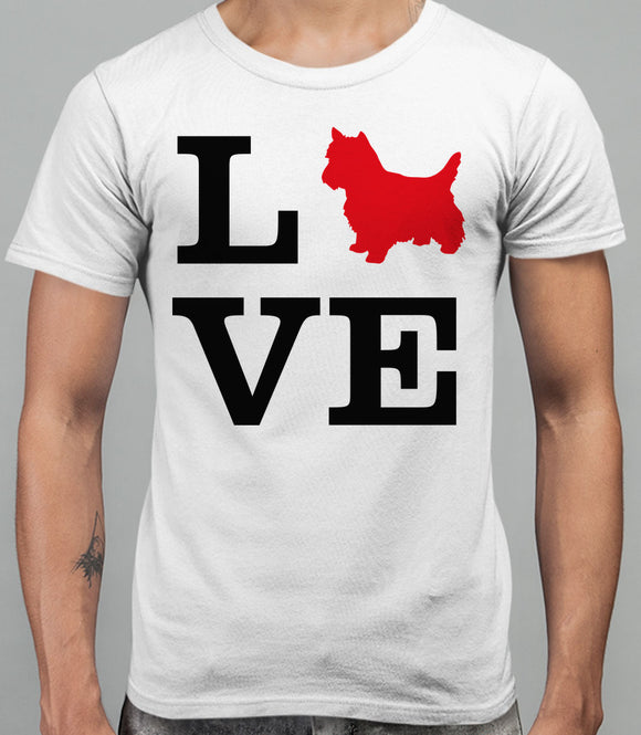 Love Westie Dog Silhouette Mens T-Shirt - White