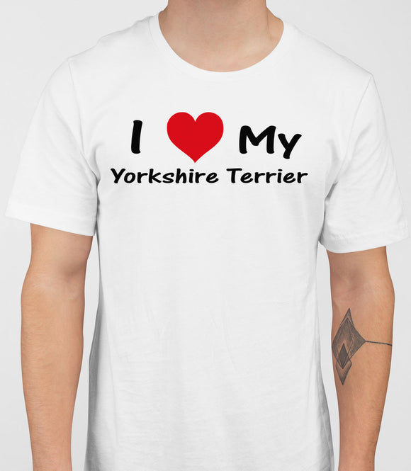 I Love My ILoveMyYorkshireTerrier Mens T-Shirt - White