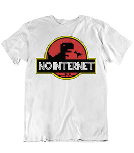 No Internet - Chrome Dino - T-Shirt - White