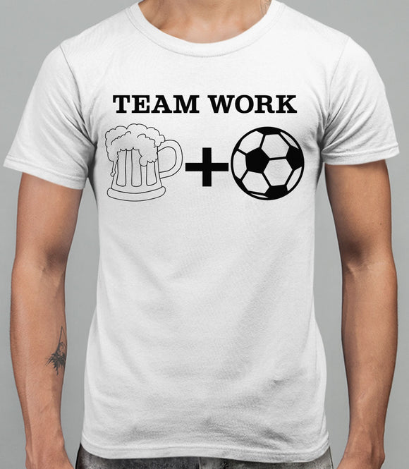 Team Work Mens T-Shirt - White