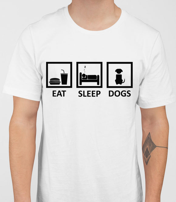 Eat Sleep Dogs Mens T-Shirt - White