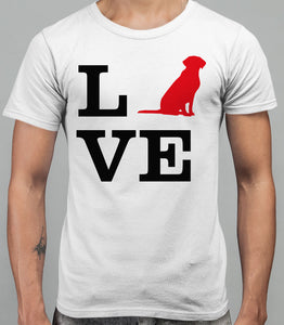 Love Labrador Dog Silhouette Mens T-Shirt - White