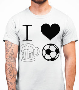I love beer and football Mens T-Shirt - White