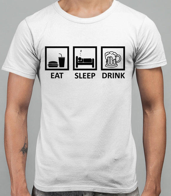 Eat Sleep Drink Mens T-Shirt - White