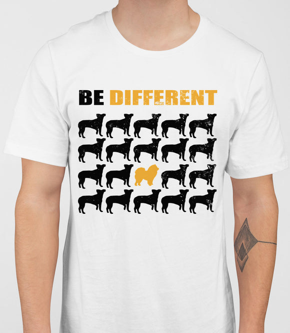 Be Different Chow Chow Dog  Mens T-Shirt - White