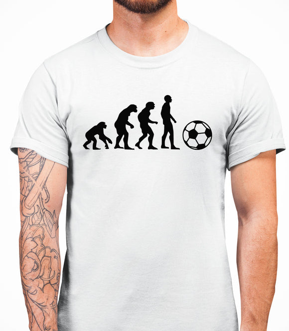 Evolution Football Mens T-Shirt - White