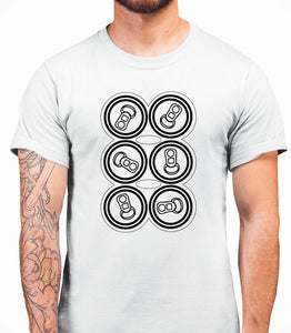 Six Pack Mens T-Shirt - White
