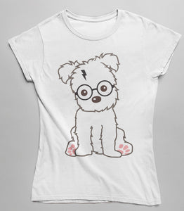 Dog Harry Potter Theme - Women's Fitted T-Shirt