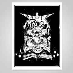 Pyre 'Black-Magic' Art Print