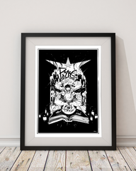 Pyre 'Black-Magic' Limited Edition Art Print (Signed & Numbered Giclée)