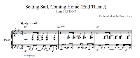 Bastion Sheet Music