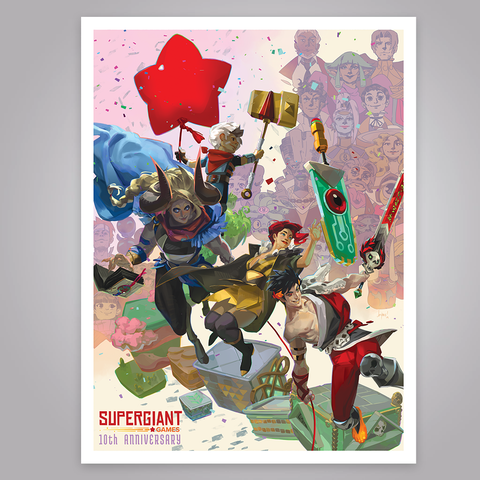 Supergiant Games 10 Year Anniversary Poster (Signed & Numbered Giclee)