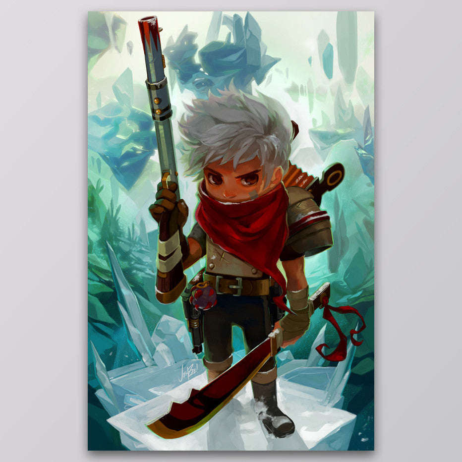 Bastion Cold War Kid Art Print Supergiant Games