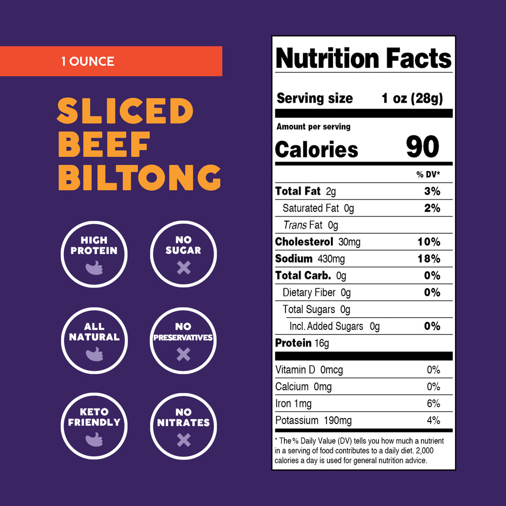Hickory Sliced Biltong