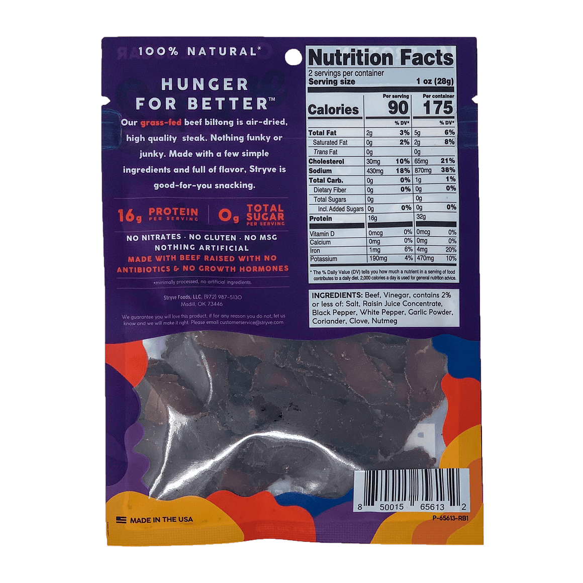 Grass-Fed Original Sliced Biltong
