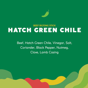 Hatch Green Chile Biltong Stick