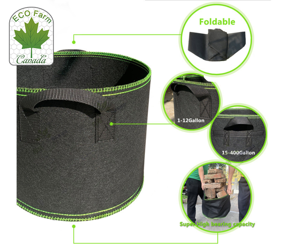 Eco Farm Sacs de Culture Intelligent Pots en Tissu