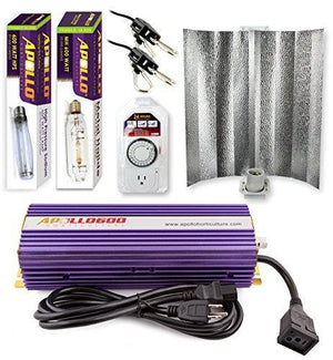 Apollo Horticulture 400W / 600W / 1000W HPS et MH Gull Wing Reflector Kit