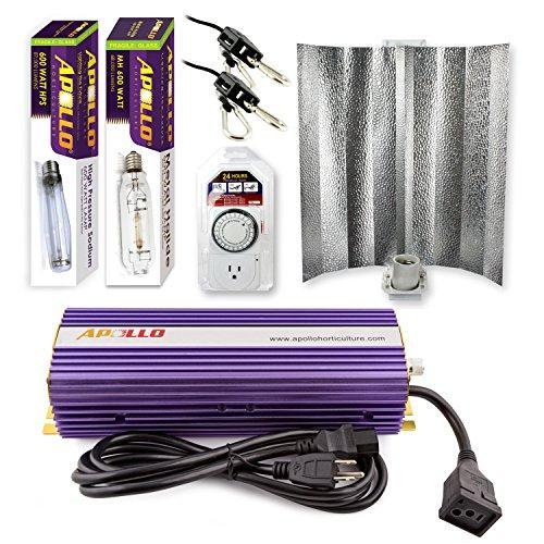 Apollo Horticulture 600 Watt HPS and MH Gull Wing Reflector Kit