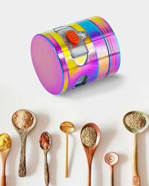 ECO Farm Herb Grinder  Rainbow Spice Grinder with Drawer