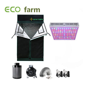 Eco Farm 4x4ft(48x48in/120x120cm) Paquet de Culture à LED 300W Essentiel pour 4 Plantes