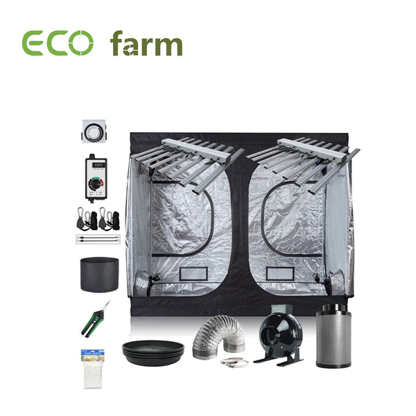 Eco Farm 8x4ft(96x48x80in/240x120x200cm) Paquet de Culture DIY Outillage Complet de Tente de Culture d'Intérieur