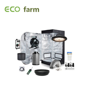 Eco Farm 2x2ft(24x24x64in/60x60x160cm) Tente de Culture d'Intérieure Hydroponique Mini Portative